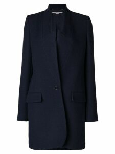 Stella McCartney collarless wrap coat - Blue