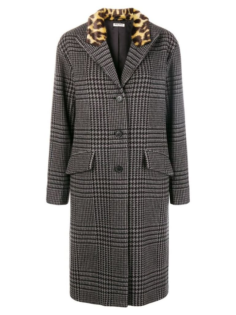 Miu Miu houndstooth coat - Grey