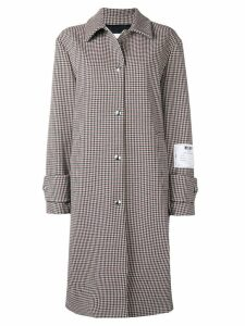 MSGM houndstooth coat - Neutrals