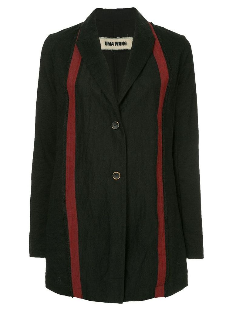 Uma Wang stripe detail coat - Blue