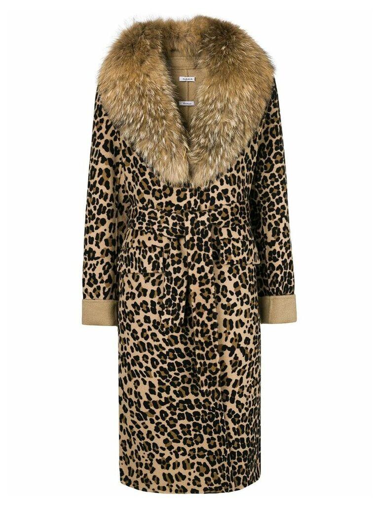 P.A.R.O.S.H. leopard print coat - Brown