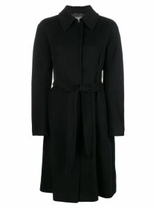 Alberta Ferretti single breasted coat - Black