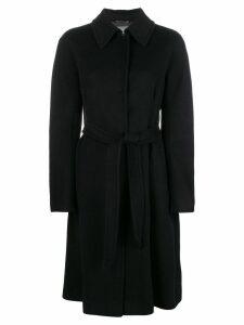 Alberta Ferretti single breasted coat - Black