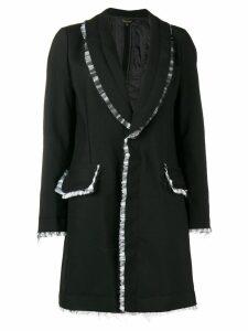 Comme Des Garçons tulle trim coat - Black