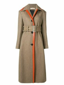 Marni hanging thread detail coat - NEUTRALS