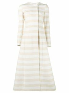 Emilia Wickstead striped domenique coat - Yellow