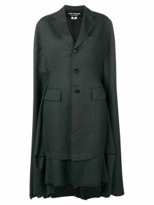 Junya Watanabe single breasted pinstripe coat - Grey