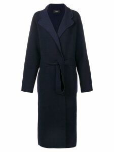 Joseph long belted coat - Blue