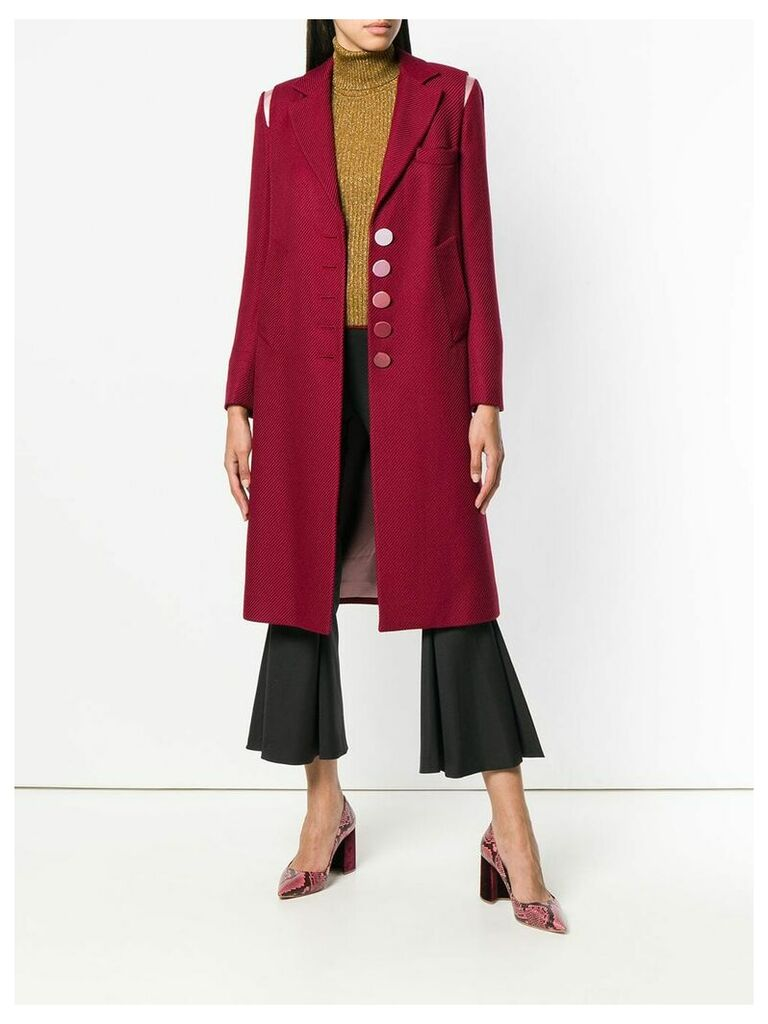 Marco De Vincenzo Supertwill single breasted coat - Red