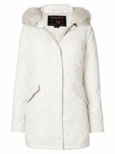 Woolrich hooded coat - Neutrals