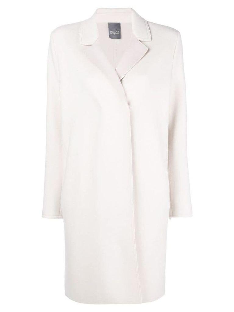 Lorena Antoniazzi single breasted coat - White