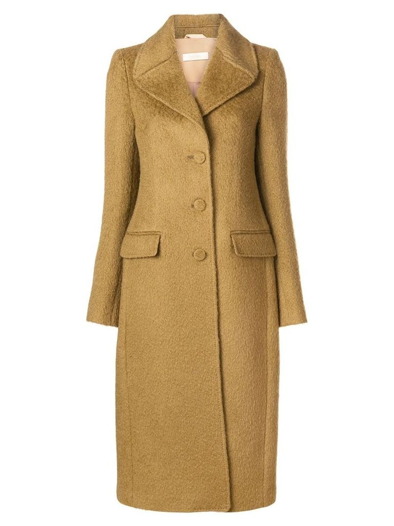 Ssheena single breasted coat - Brown