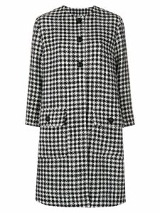 Dolce & Gabbana houndstooth patterned coat - Black