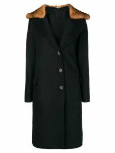 Ermanno Scervino fitted open collar coat - Black