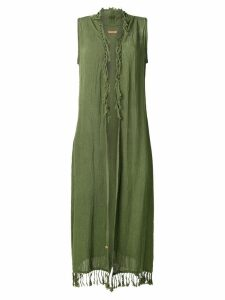 Caravana sleeveless open long vest - Green