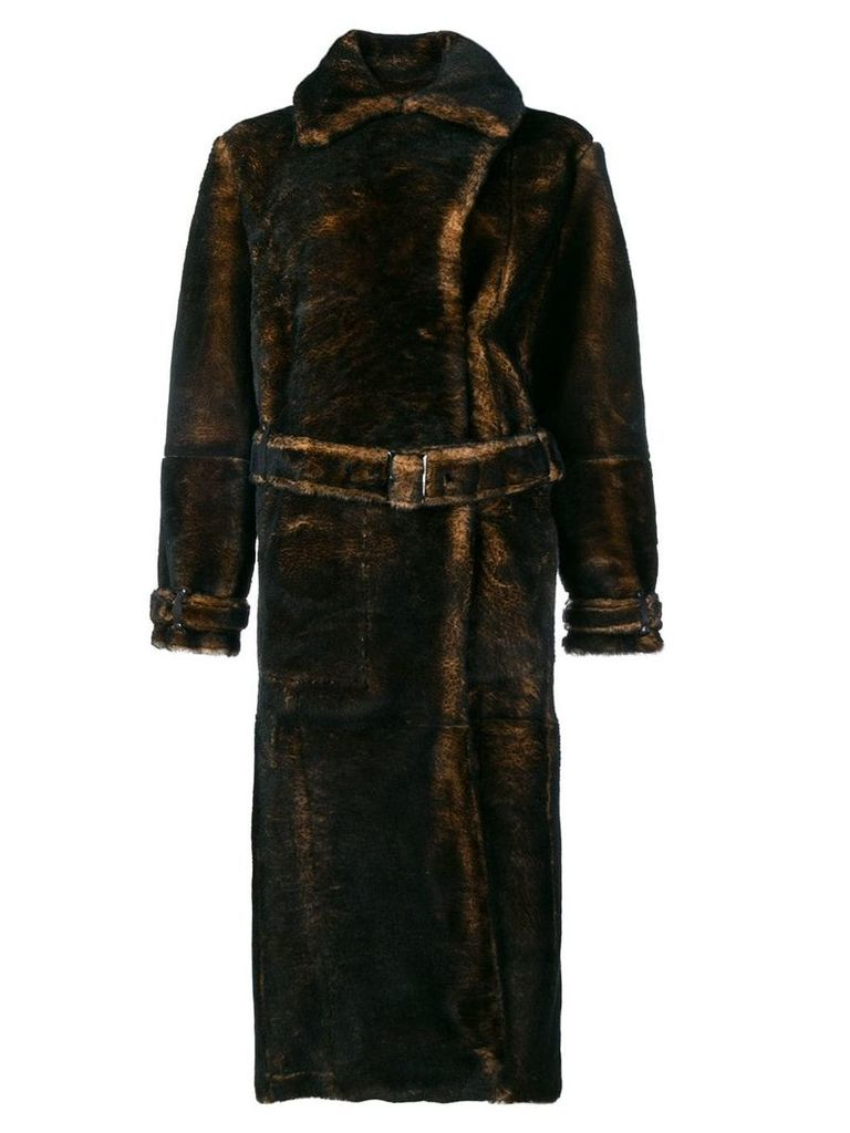Tom Ford belted coat - Brown