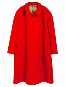 Burberry Double-faced Wool Cashmere Oversized Car Coat - Red