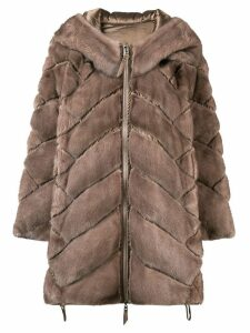 Liska padded hooded coat - Brown