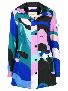 Emilio Pucci colour-block fitted coat - Blue
