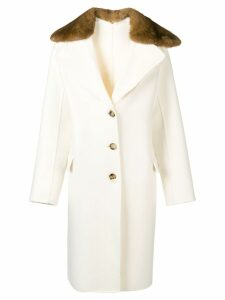 Ermanno Scervino fur trim coat - Neutrals