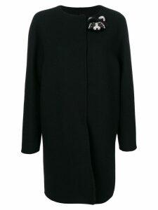 Ermanno Scervino jewelled bear coat - Black