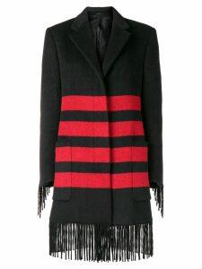 Calvin Klein 205W39nyc fringe coat - Black