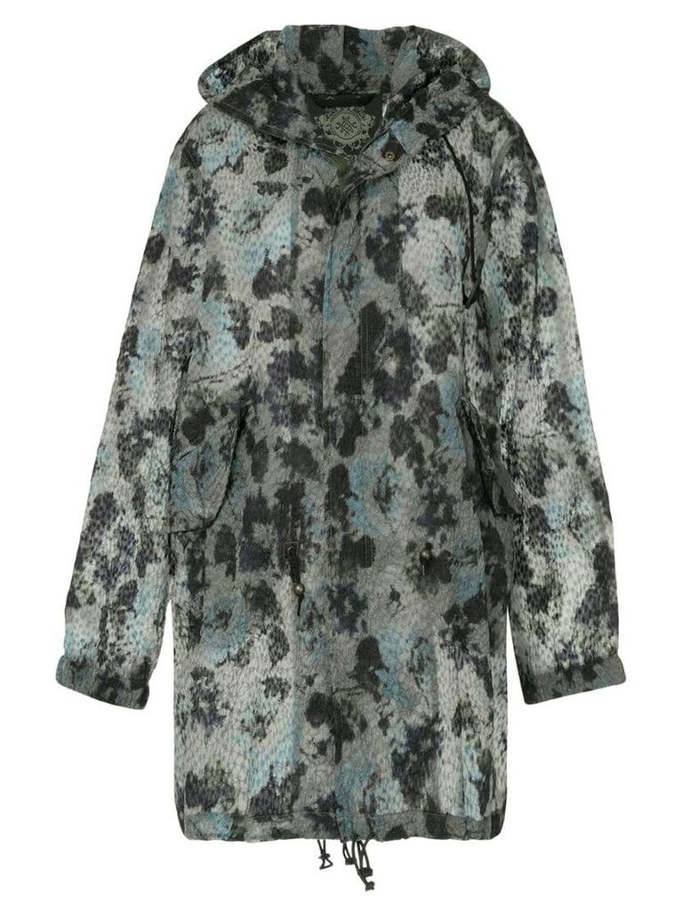Mr & Mrs Italy printed hooded coat - Green