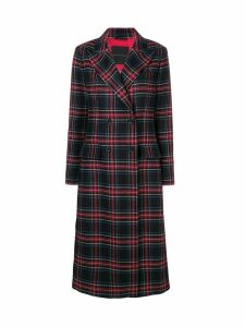 Ermanno Scervino tartan double-breasted coat - Black