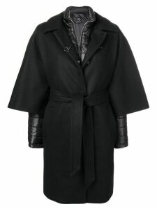 Fay layered single breasted coat - Black
