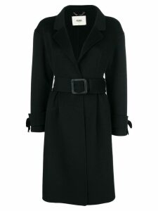 Fendi belted coat - Black
