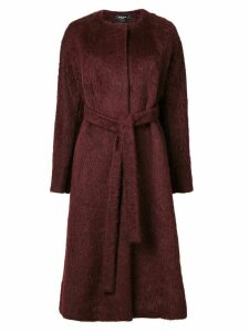 Rochas single breasted coat - Red