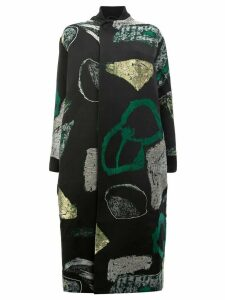 Toogood abstract print coat - Black
