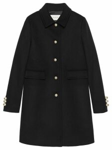 Gucci Single-breasted coat - Black