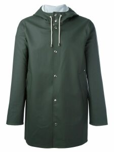 Stutterheim drawstring hood raincoat - Green
