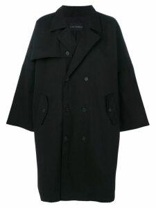 Yuiki Shimoji oversized trench coat - Black