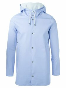 Stutterheim hooded coat - Blue
