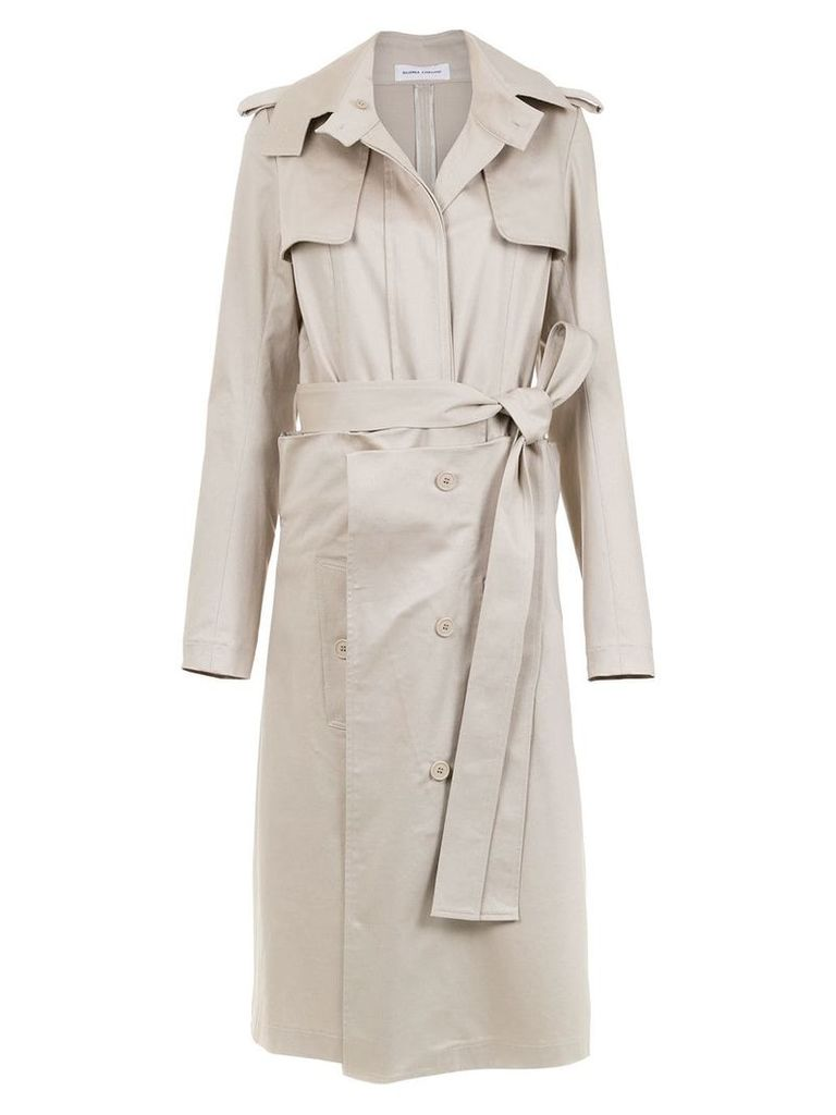 Gloria Coelho belted layered trench coat - Neutrals