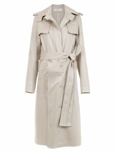 Gloria Coelho belted layered trench coat - NEUTRALS