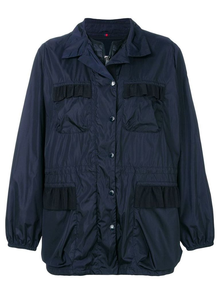 Moncler detachable gilet rain jacket - Blue