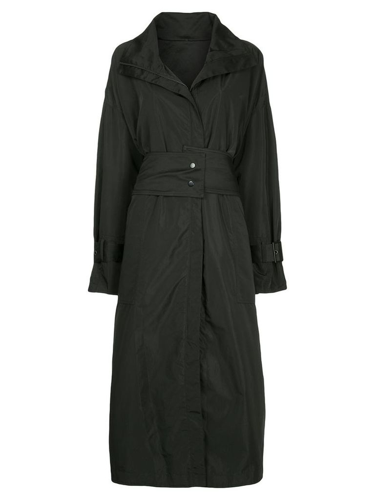 Taylor zipped trench coat - Black