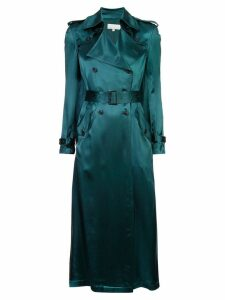 Fleur Du Mal sheen trench coat - Green