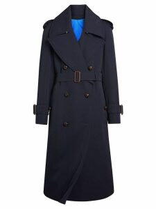 Burberry Oversized Lapel Gabardine trench coat - Blue