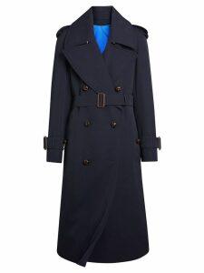 Burberry Oversized Lapel Gabardine trench coat - Blue