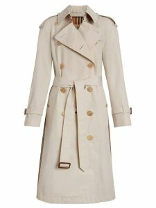 Burberry Heritage Ribbon Cotton Gabardine Trench Coat - Neutrals