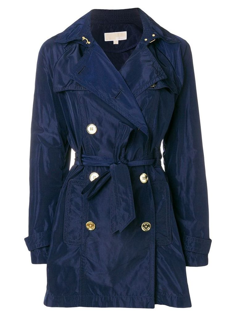 Michael Michael Kors short trench coat - Blue