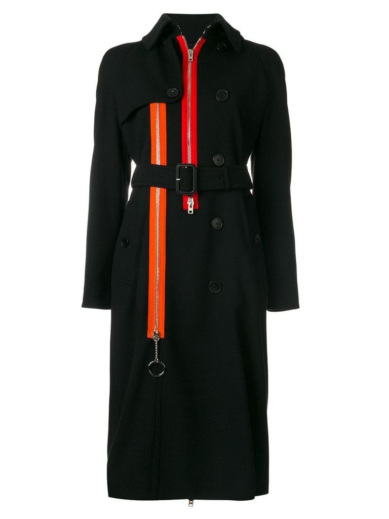 Givenchy zip detail trench coat - Black
