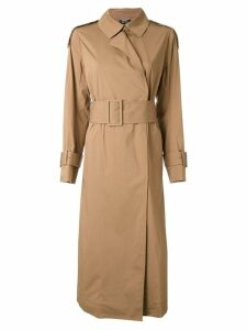 Muveil belted trench coat - Brown
