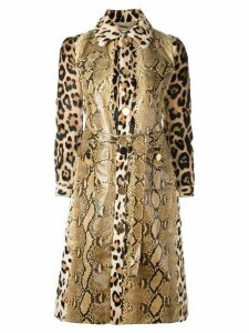 Givenchy print mix panelled trench coat - Neutrals