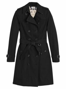 Burberry Sandringham Long Trench Coat - Black