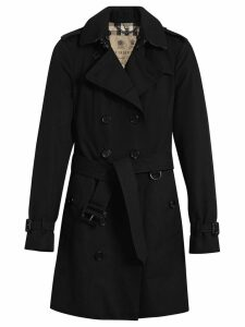 Burberry The Sandringham Mid-length Trench Coat - Black